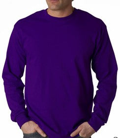 Mens Premium Long Sleeve T-Shirt (Purple)