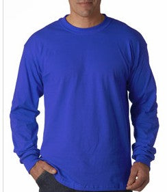 Mens Premium Long Sleeve T-Shirt (Royal Blue)