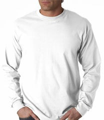 Mens Premium Long Sleeve T-Shirt (White)
