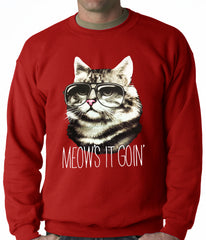 Meow's It Going Funny Cat Adult Crewneck