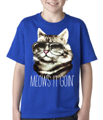 Meow's It Going Funny Cat Kids T-shirt