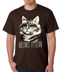 Meow's It Going Funny Cat Mens T-shirt