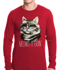 Meow's It Going Funny Cat Thermal Shirt