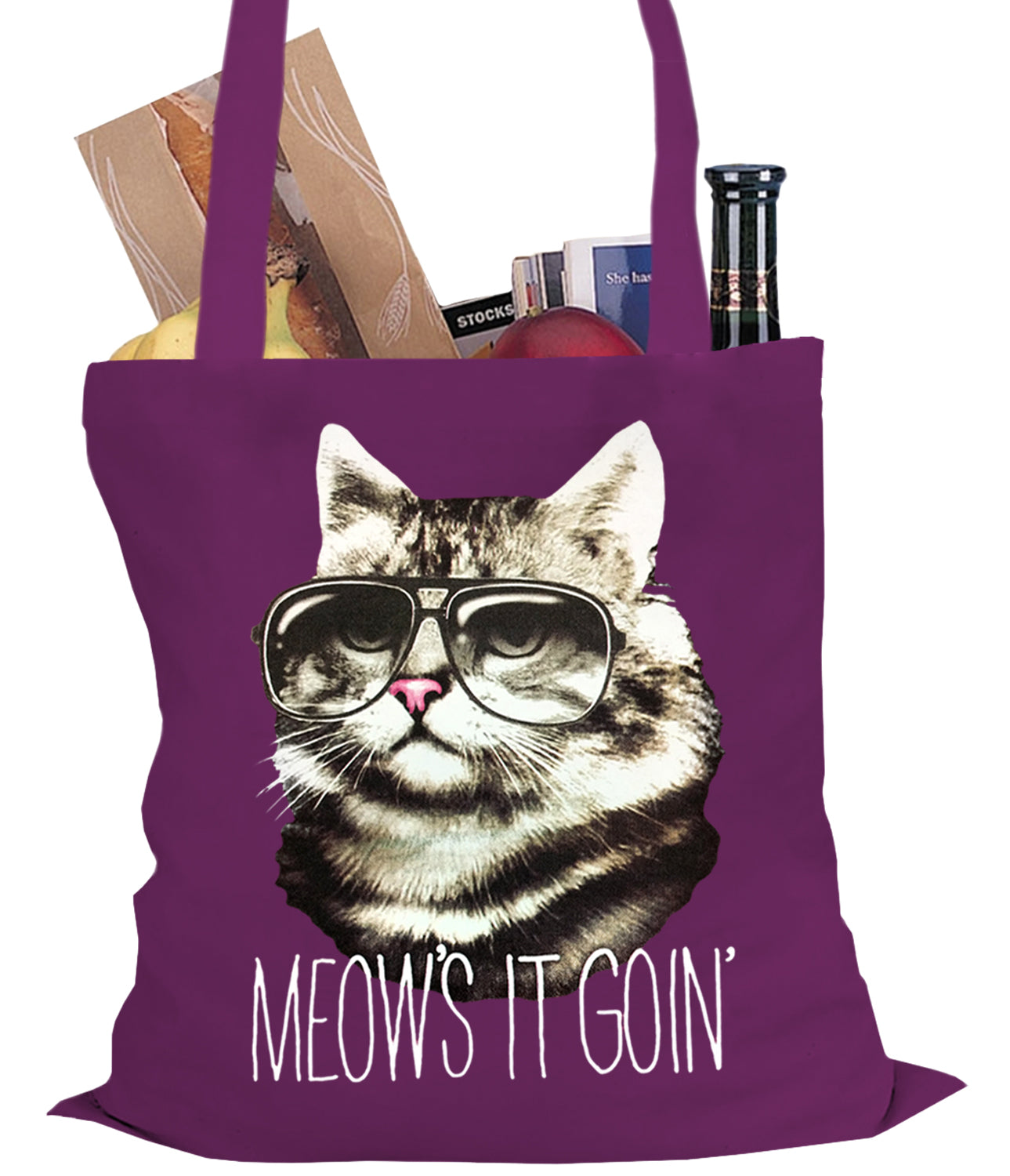 Meow's It Going Funny Cat Tote Bag