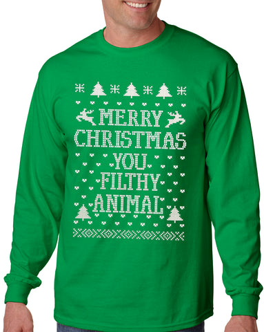 Merry Christmas You Filthy Animal Long Sleeve T-shirt