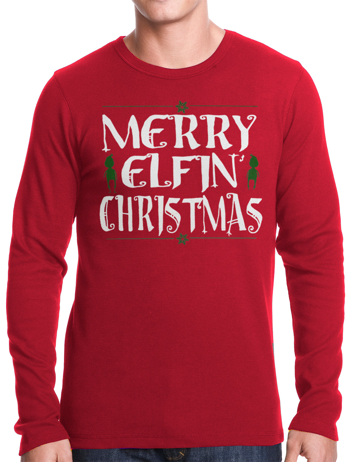 Merry Elfin' Christmas Funny Thermal Longsleeve Shirt