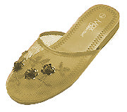 Mesh Chinese Slippers for weddings And Casual Wear (Gold)
