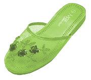 Mesh Chinese Slippers for weddings And Casual Wear (Lime Green)