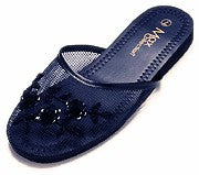 Mesh Chinese Slippers for weddings And Casual Wear (Navy Blue)