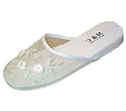 Mesh Chinese Slippers for weddings And Casual Wear (White)