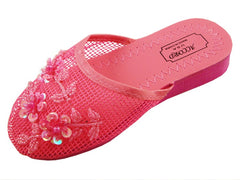 Mesh Chinese Slippers (Hot Pink)