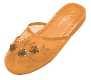 Mesh Chinese Slippers (Orange)