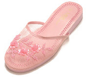 Mesh Chinese Slippers (Pink)
