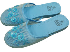 Mesh Chinese Slippers (Sky Blue)