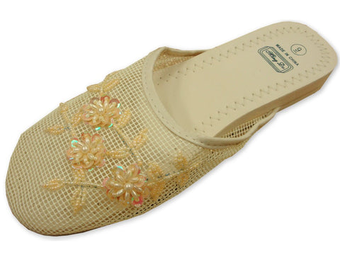 Mesh Chinese Slippers (White)