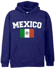 Mexico Vintage Flag International Hoodie