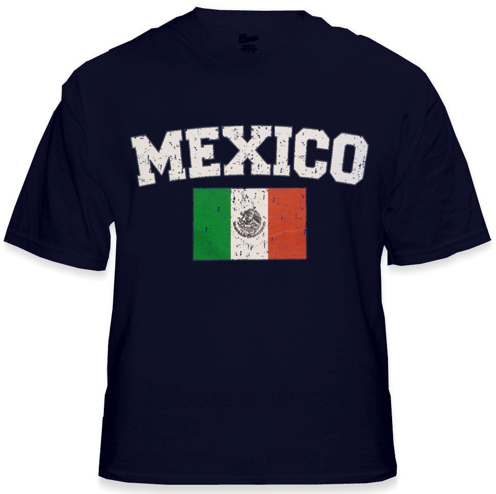 Mexico Vintage Flag International Mens T-Shirt