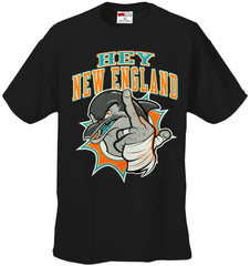 Miami Fan - Hey New England Mens T-shirt