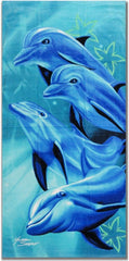 Michael Searle Signature Dolphin Tropic Beach & Bath Towel