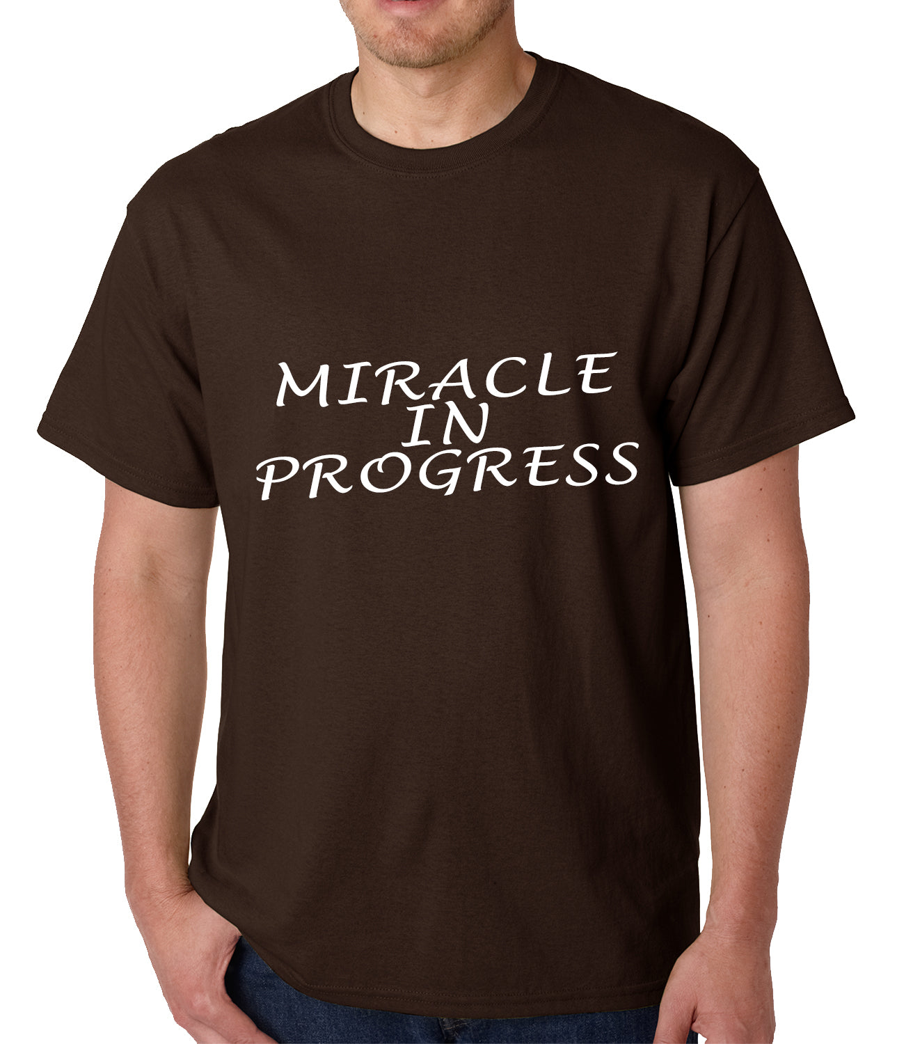 Miracle In Progress Mens T-shirt
