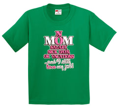 Mom: No Salary, Sick Days, or Vacation Men's T-Shirt