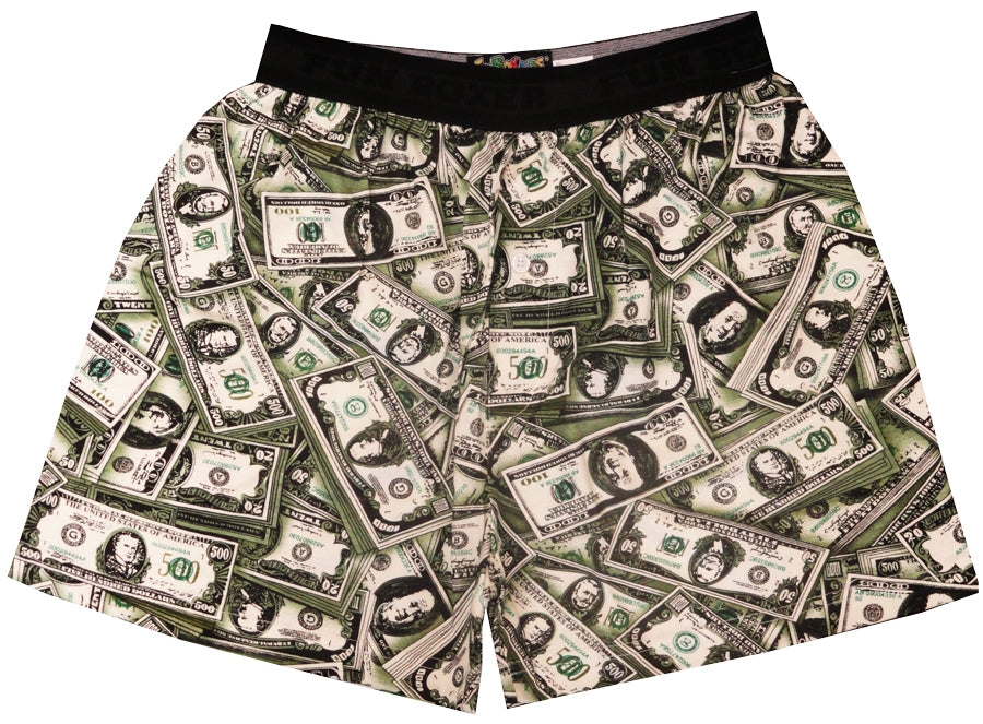 Money Bills Boxer Shorts