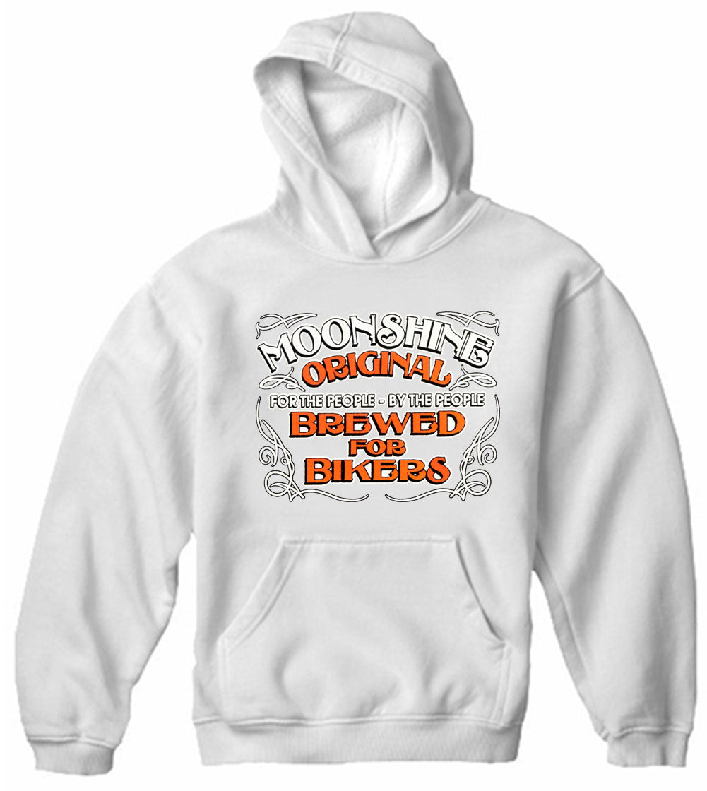 Moonshine Brewed For Bikers Adult Hoodie