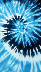 Multi Blue Tie Dye Fringe Kids T-shirt