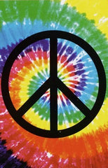 "Multi ColorTie Dye Peace Sign Towel (30""X60"")"