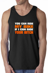 My Bike Your B*tch Mens Tank Top (Black)