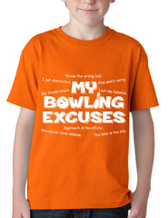 My Bowling Excuses Kids T-shirt