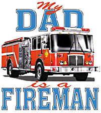 My Dad Is A Fireman Kids T-Shirt