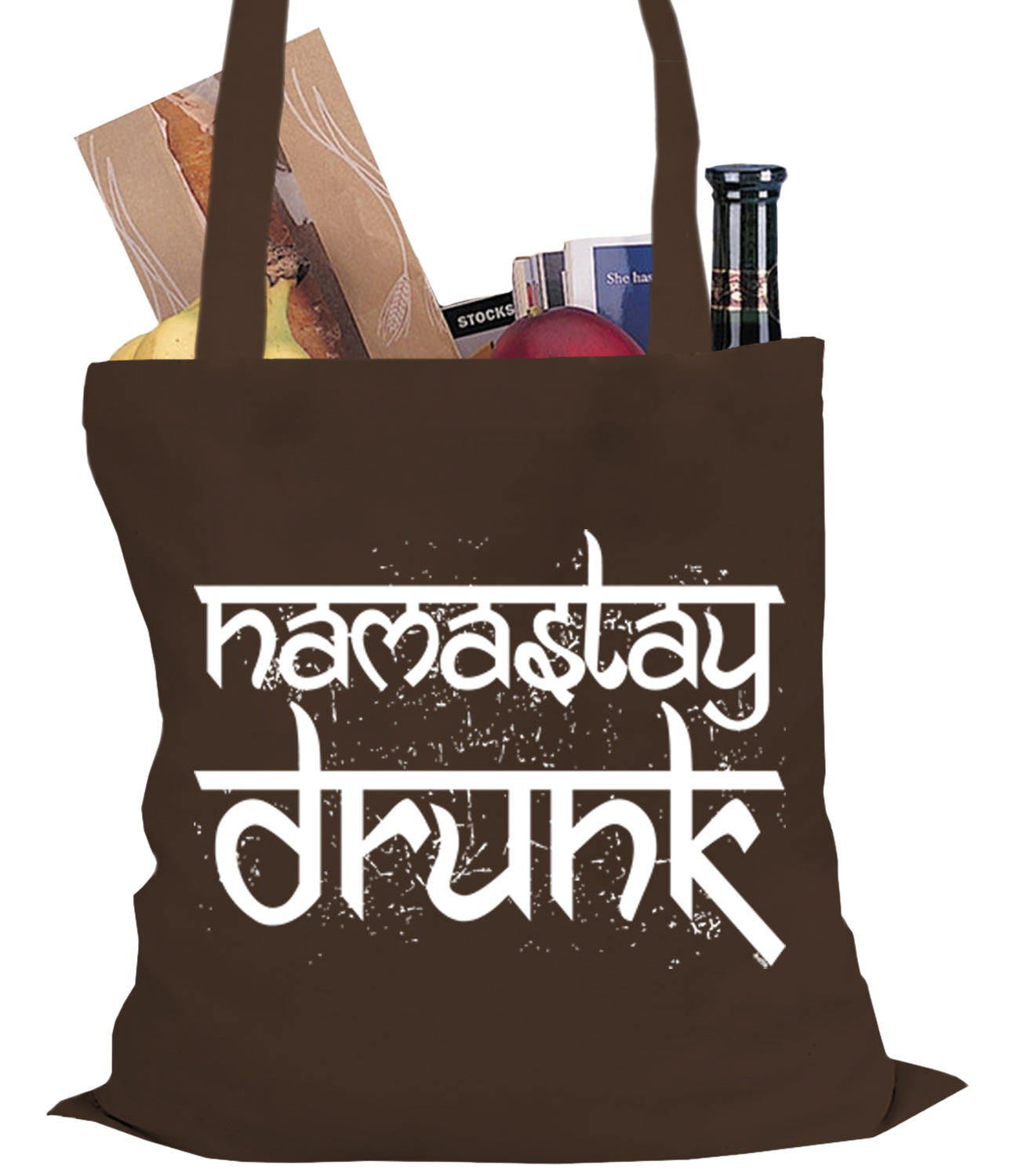 Namastay Drunk Funny Tote Bag