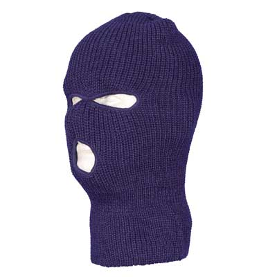 Navy Blue Warm Winter Ski and Face Mask