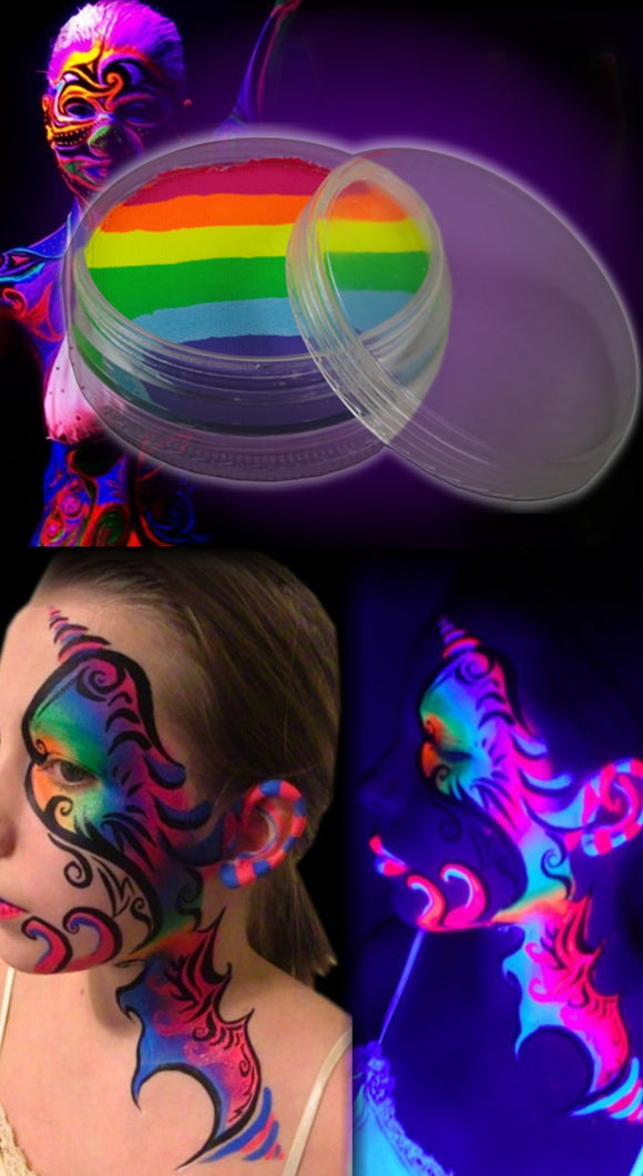Neon Black Light Reactive Face & Body Paint Compact