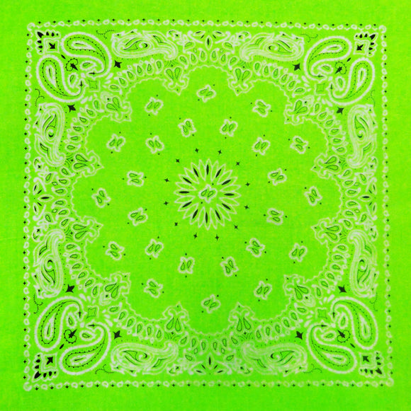 Neon Green Bandana (Glows Under Black Light)