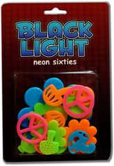 Neon Groovy Shape Black Light Reactive Wall Decorations