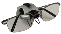 New Age Modern Sunglasses Holder Visor Clip (Silver/Black)