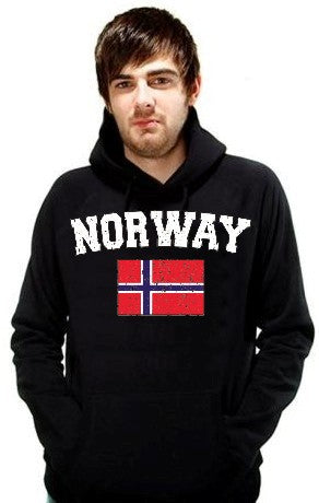 Norway Vintage Flag International Hoodie
