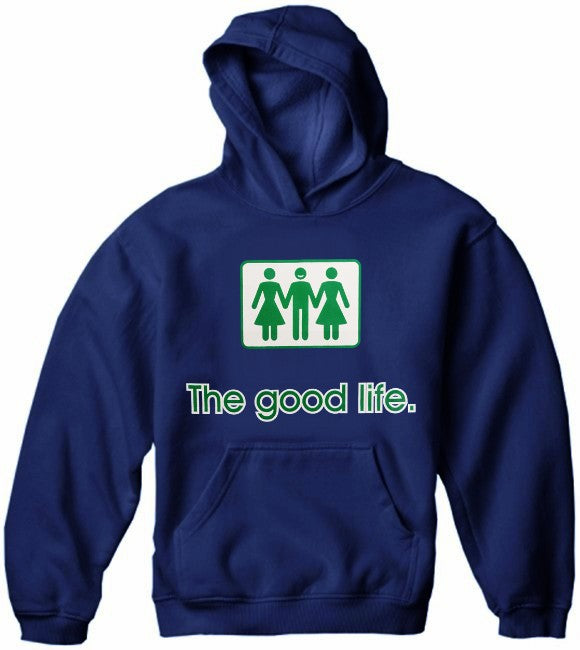 Novelty Sweatshirts - The Good Life Threesome Hoodie