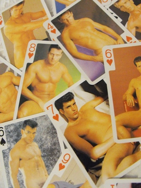 Nude Men Playing Cards