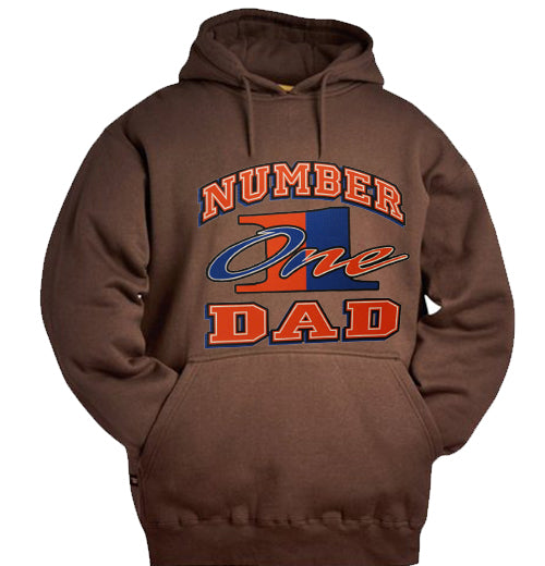 Number One Dad Adult Hoodie