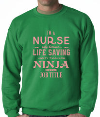 Nurse - Full Time Ninja Crewneck Sweatshirt