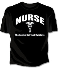 Nurse The Hardest Job Girls T-Shirt