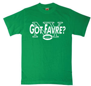 NY Jets Got Favre T-Shirt -  New Brett Favre Men's Tee (Green)