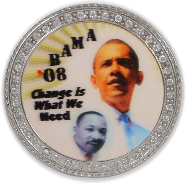 Obama/Martin Luther King 3D Holographic Buckle with FREE belt