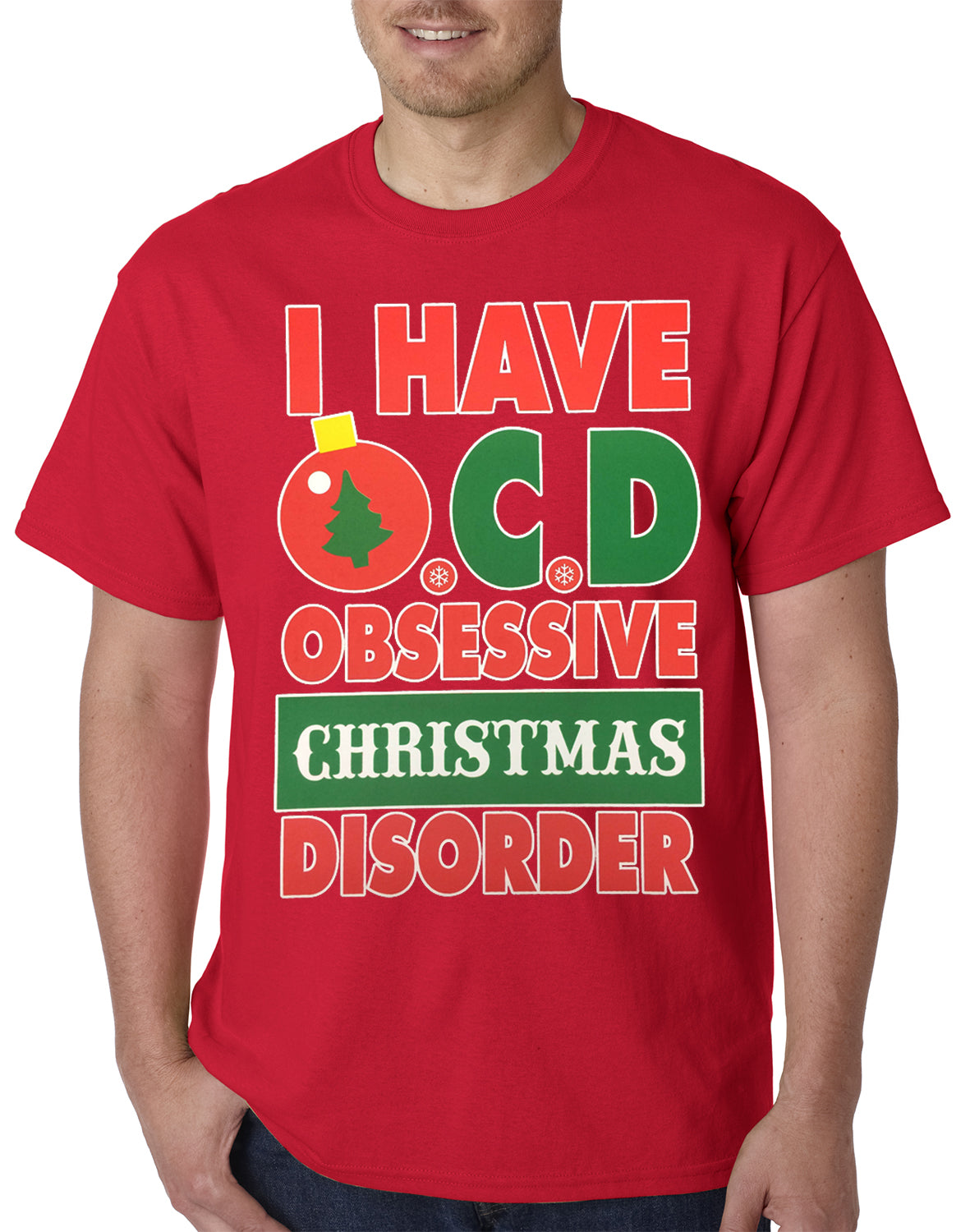 OCD - Obsessive Christmas Disorder Mens T-shirt