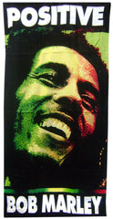 Official Bob Marley Positive Beach & Bath Towel (30 x 60 inches)