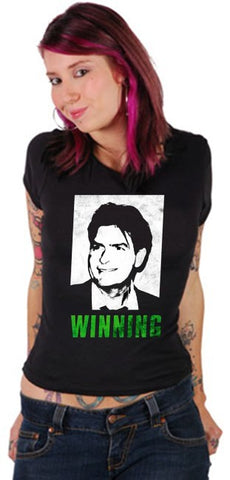 Official Charlie Sheen T-Shirt - Winning Photo Girls T-Shirt