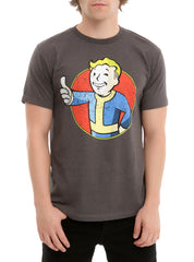 Official Distressed Vault Boy Fallout Mens T-shirt